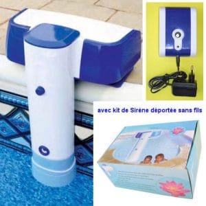 alarme de piscine homologuee avec sirene deportee 300x300 - Alarme piscine AQUASENTINEL avec sirène déportée sans fil utilise pile 9V