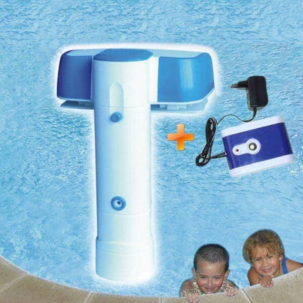 Alarme piscine AQUASENTINEL avec sirène déportée sans fil utilise pile 9V