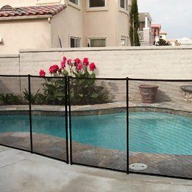 cloture de piscine transparente 280x280 - Galerie photo d'alarme piscine et douche solaire