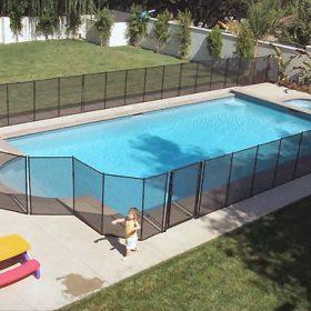cloture piscine securite amovible 280x280 - Galerie photo d'alarme piscine et douche solaire