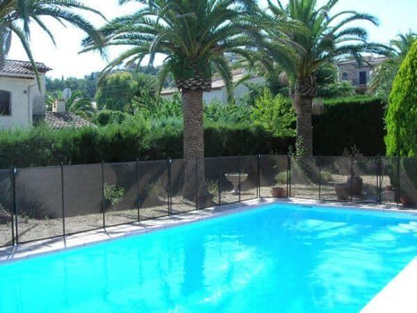 Cloture amovible pour piscine protection enfants