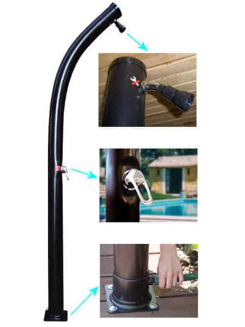 Douche solaire piscine en pvc 25l