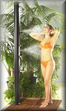 Douche piscine solaire aluminium pour piscine