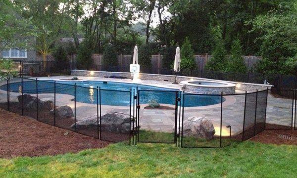 Sécurisé piscine avec clôture piscine transparente