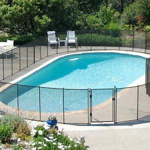 Cloture piscine demontable avec portail de barrière piscine