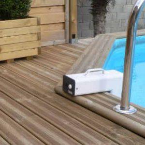 Alarme piscine wateralarme installée sur piscine enterré