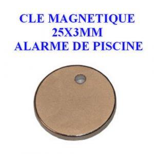 Clé magnétique pour alarmes piscine