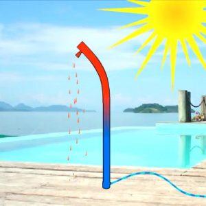 Douche solaire bio poster | douche solaire piscine et jardin en aluminium 40l avec brumisateurs